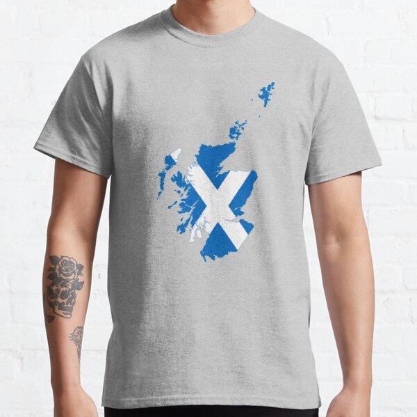 Flag Map of Scotland  Classic T-Shirt