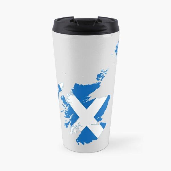 Flag Map of Scotland  Travel Mug