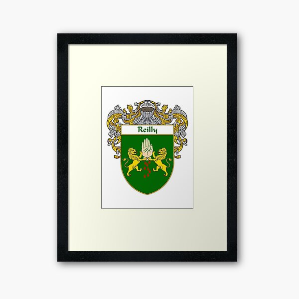 Reilly Coat of Arms / Reilly Family Crest Framed Art Print