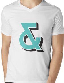 Ampersand + Mens V-Neck T-Shirt