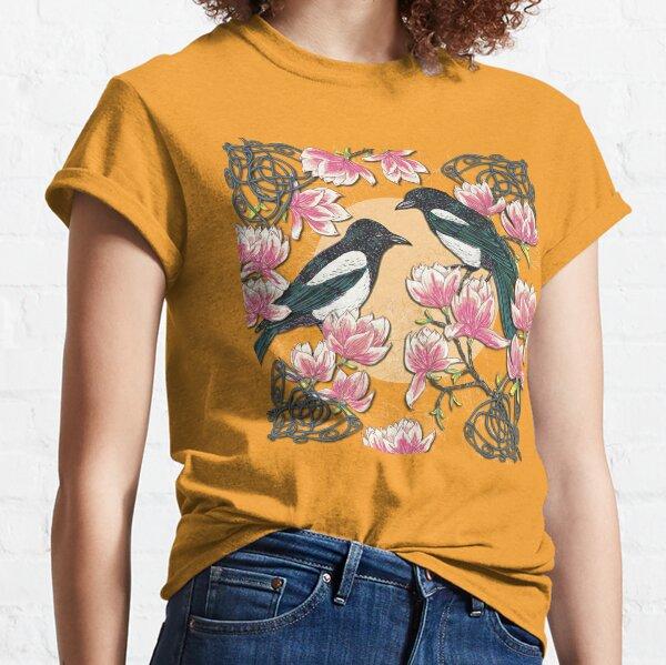 Celtic Magpies & Magnolias Classic T-Shirt