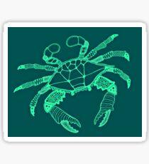 Teal Blue Crab Sticker