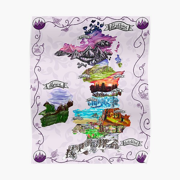 Map of Prythian  Poster