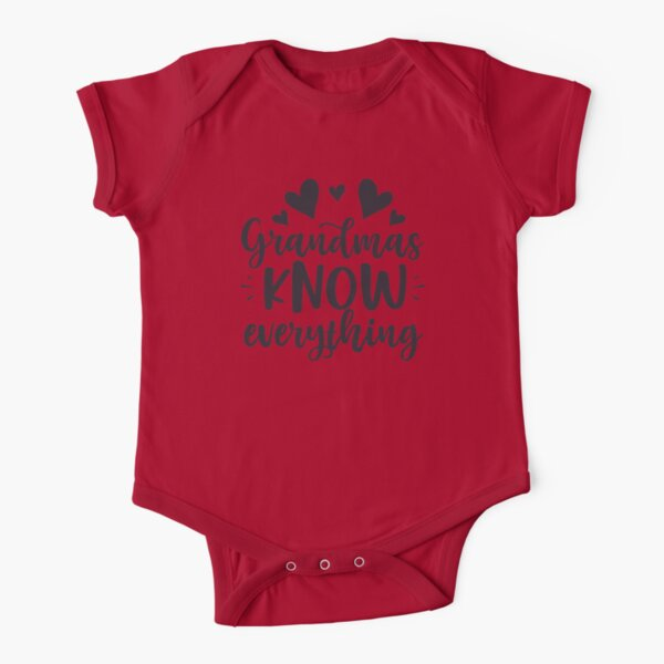 Grandma Knows Everything   Grandpa Knows Everything Short Sleeve Baby One-Piece