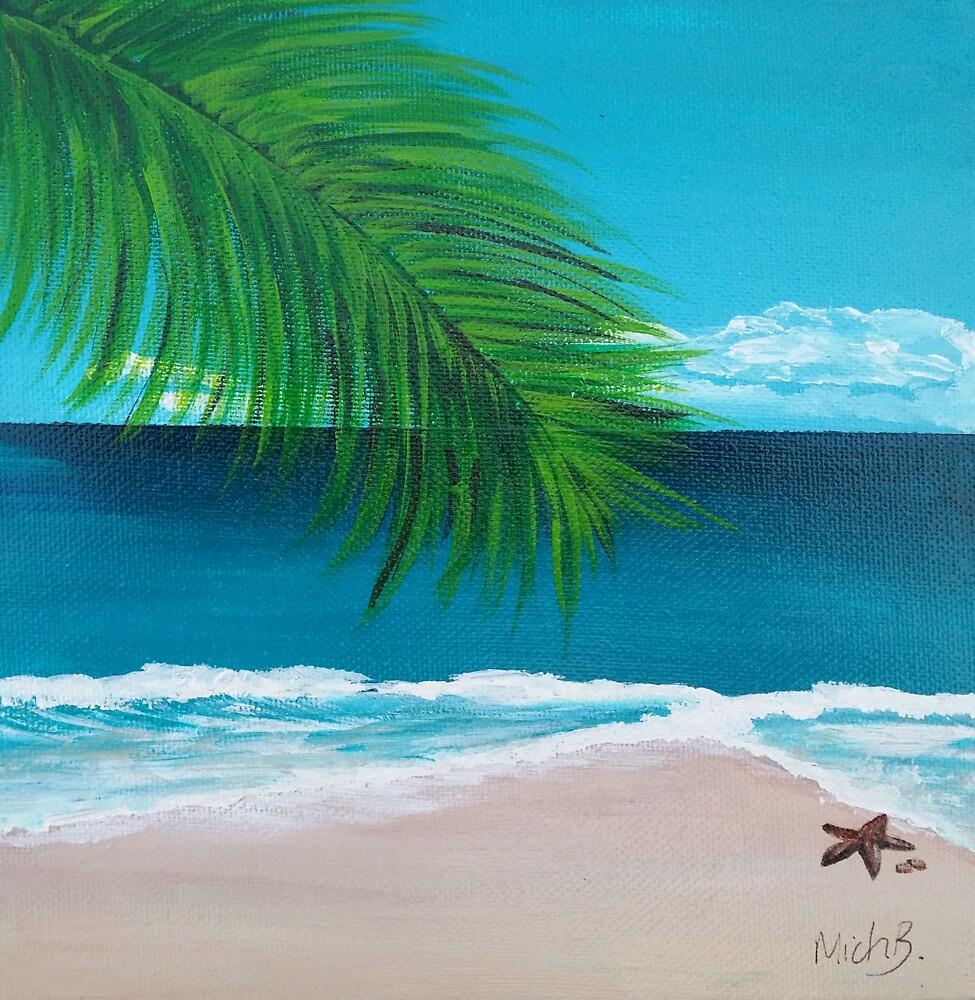 Tropical Beach by BluGeckos