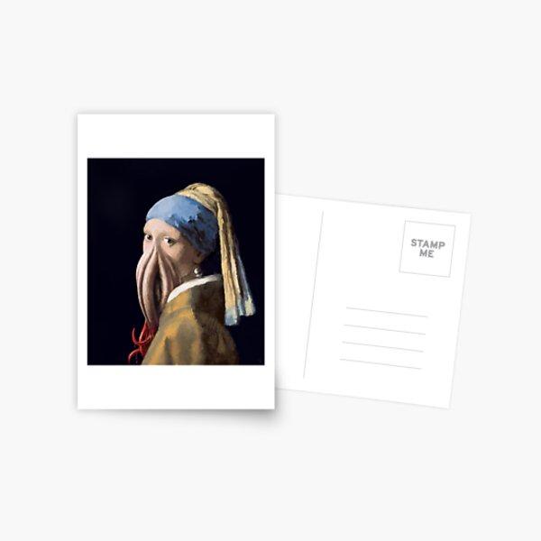 La Jeune Fille à la pieuvre Carte postale