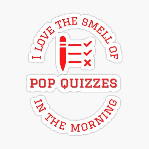 Morning Pop Quiz Sticker