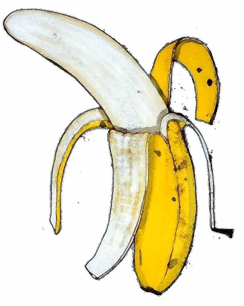 Peeled banana by sarahlovelyshop