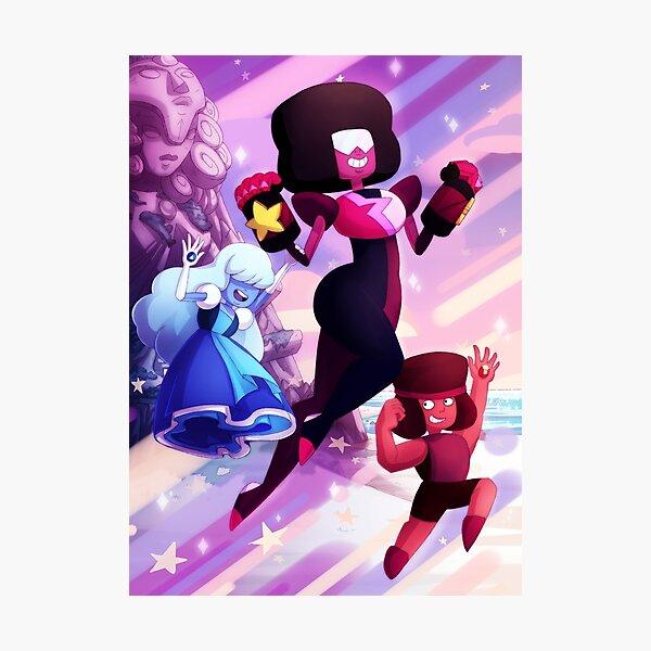 Garnet - Steven Universe Fanart, Sapphire, Ruby, Fusion Photographic Print