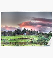 Evening sky,Hill End, Poster