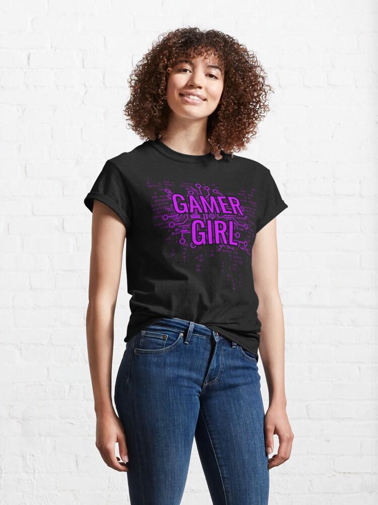 Alternate view of GAMER GIRL Cyber Purple Classic T-Shirt