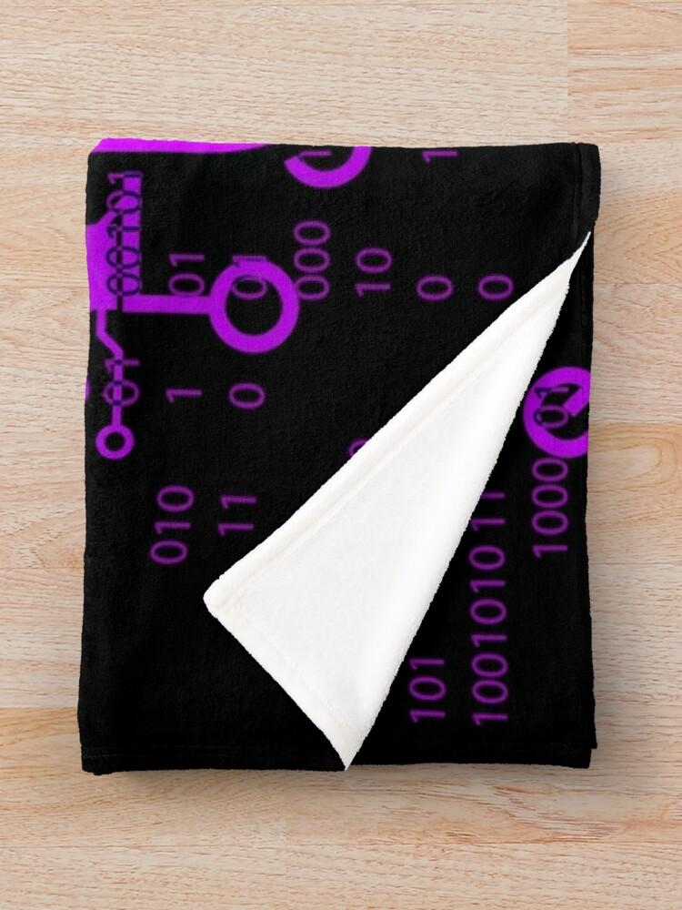 Alternate view of GAMER GIRL Cyber Purple Throw Blanket