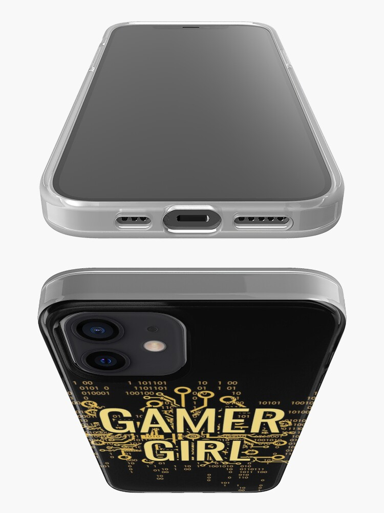 Alternate view of GAMER GIRL Cyber Yellow Gold iPhone Case & Cover