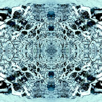 Snow Tunnel Reflections - Meditative Pattern by mikeroutliffe