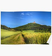 Medieval castle Wachsenburg - rural Poster
