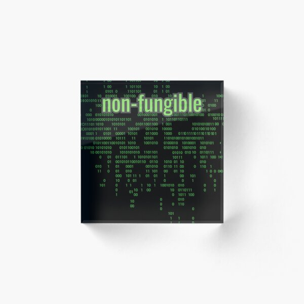 Non-Fungible Digital Green Acrylic Block