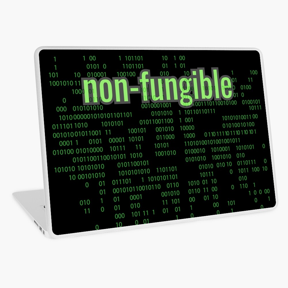 Non-Fungible Digital Green Laptop Skin