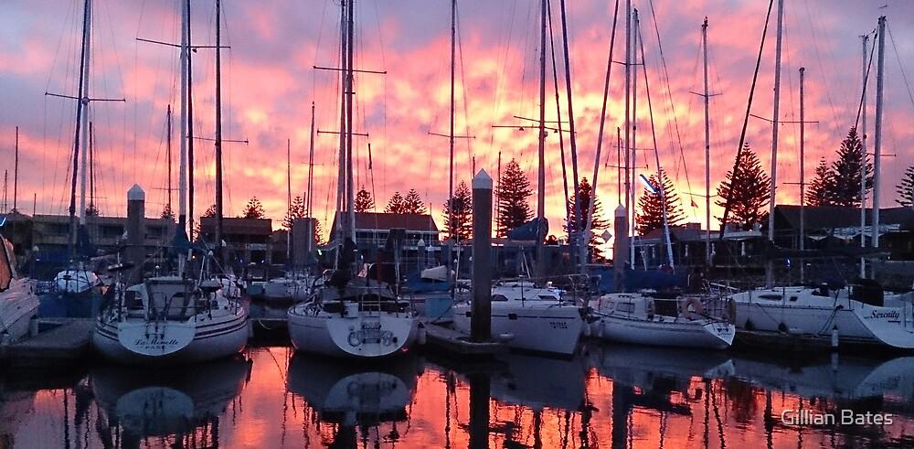 Sunrise, North Haven Marina, South Australia  by Gillian Bates