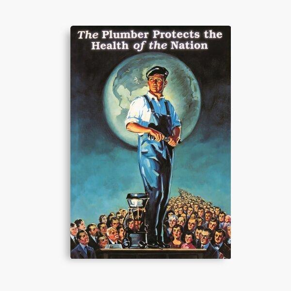 Vintage American Plumber Pride Poster Canvas Print