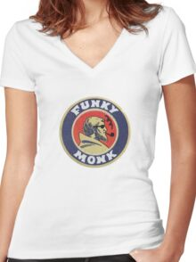Funky Monk Women's Fitted V-Neck T-Shirt