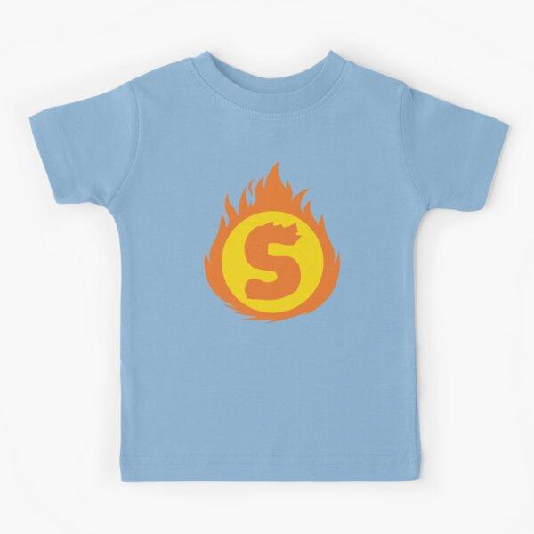 Superhero Letter S. Fire Insignia Kids T-Shirt