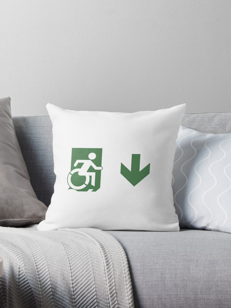 Accessible Means of Egress Icon Emergency Exit Sign, Right Hand Down Arrow by Egress Group Pty Ltd