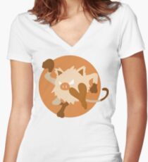 Mankey - Basic Women's Fitted V-Neck T-Shirt