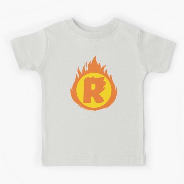 Superhero Letter R. Fire Insignia Kids T-Shirt