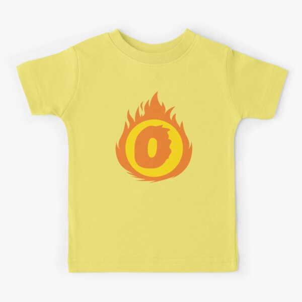 Superhero Letter O. Fire Insignia Kids T-Shirt