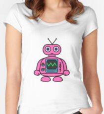 Pink Robot Women's Fitted Scoop T-Shirt