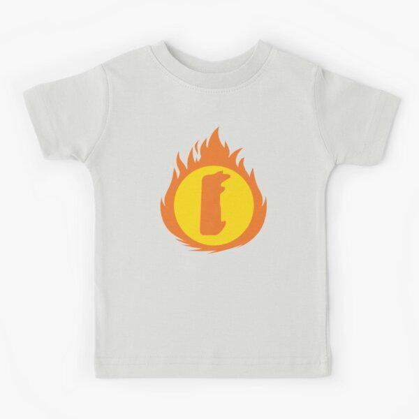 Superhero Letter I. Fire Insignia Kids T-Shirt