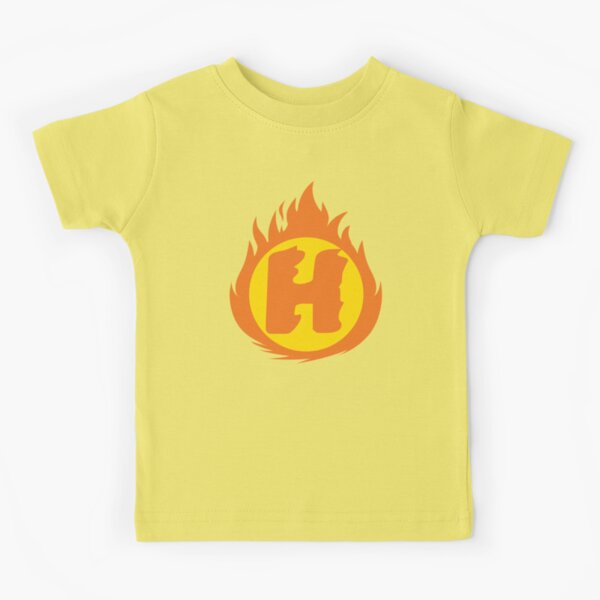Superhero Letter H. Fire Insignia Kids T-Shirt