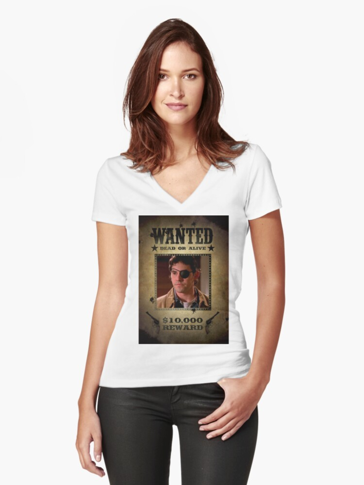 Buffy Xander Wanted 2 Women's Fitted V-Neck T-Shirt Front