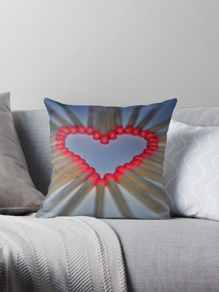 Heart cushion love by Ashley Hebblethwaite