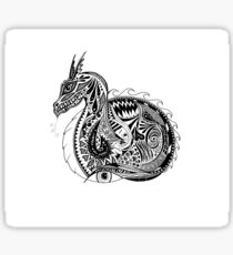 Nesting Dragon Sticker