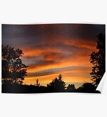 Firey Sunset Poster