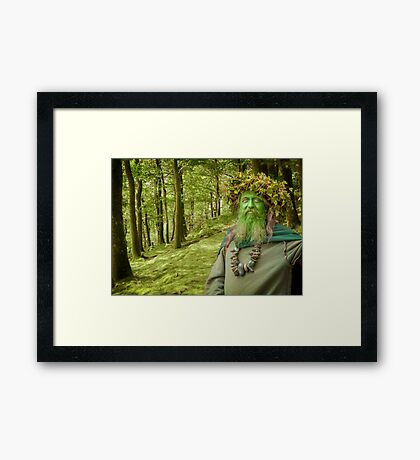 Green Man Of The Woods Framed Print