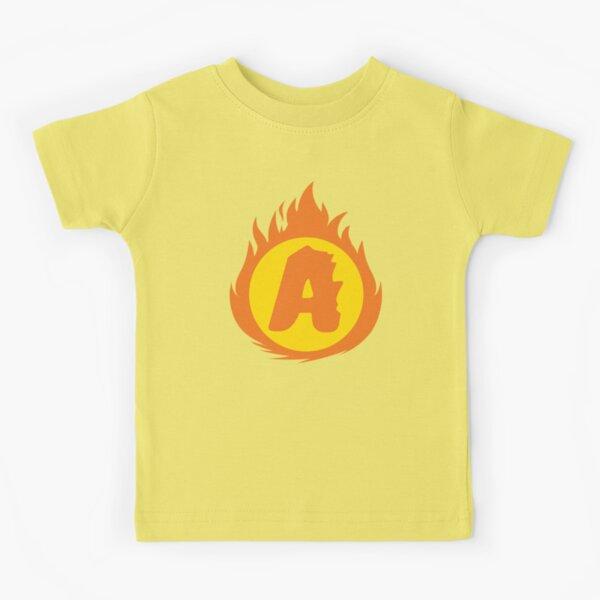 Superhero Letter A. Fire Insignia Kids T-Shirt