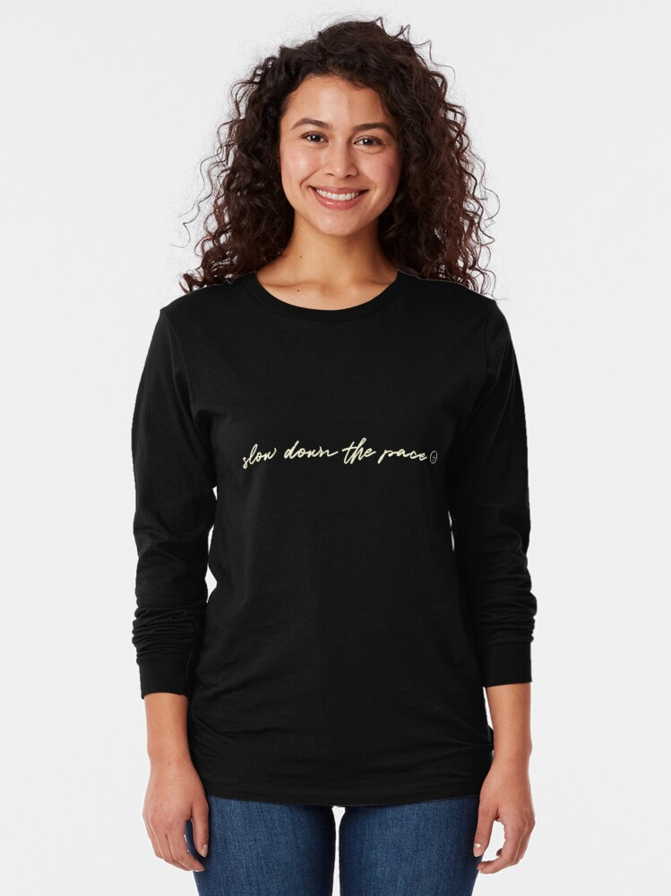 Alternate view of Slow Down the Pace | Gaudard | Beige Long Sleeve T-Shirt