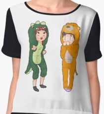 Dan and phil with onesies part 2 Women's Chiffon Top