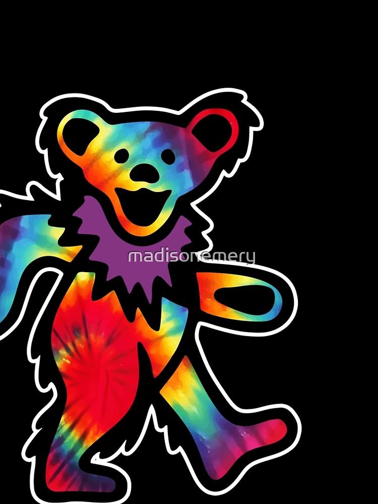 Grateful Dancing Dead Hippie Bear Tie Dye by madisonemery