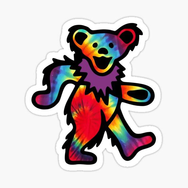Grateful Dancing Dead Hippie Bear Tie Dye Sticker