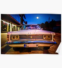 Old Ford Taunus under the moon Poster