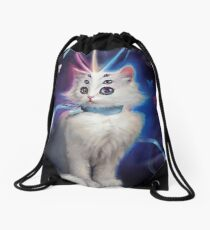 Buttons the Cat Drawstring Bag