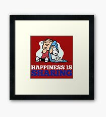 Snoopy and Charlie Brown Quote Framed Print