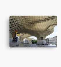 The Lego Backpacker in Seville Canvas Print