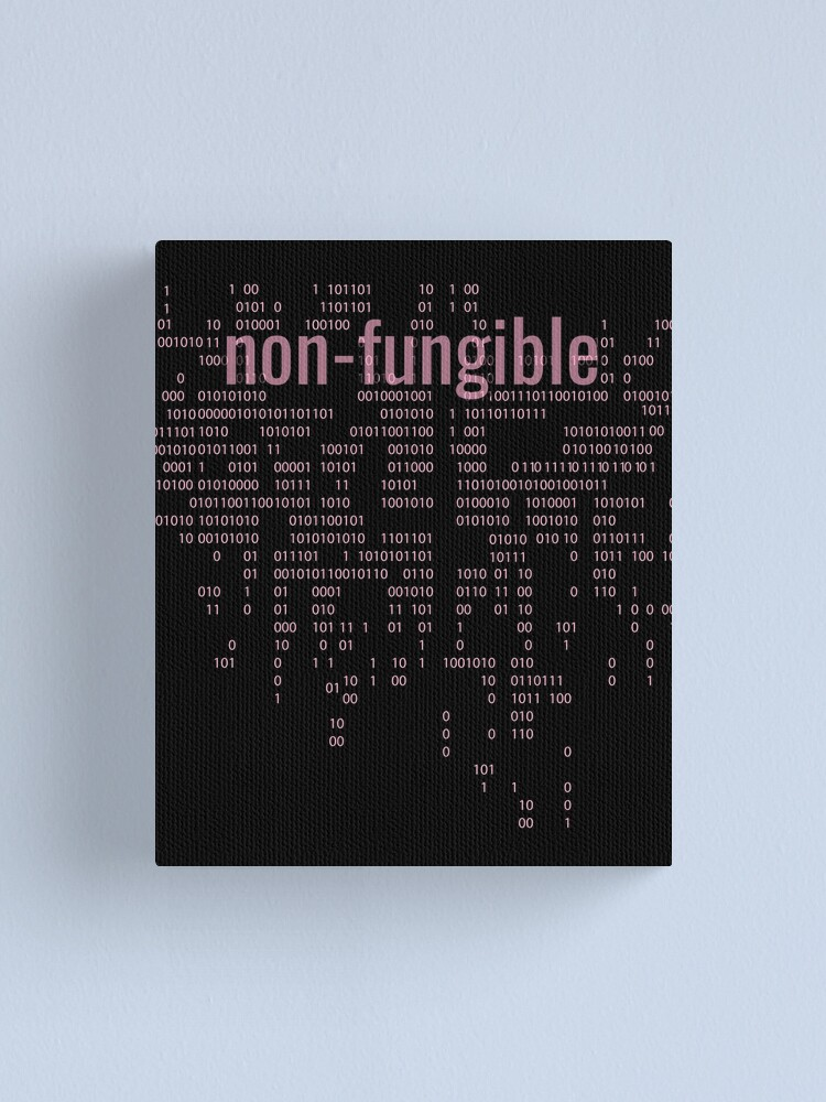 Alternate view of Non-Fungible crypto Pink Canvas Print
