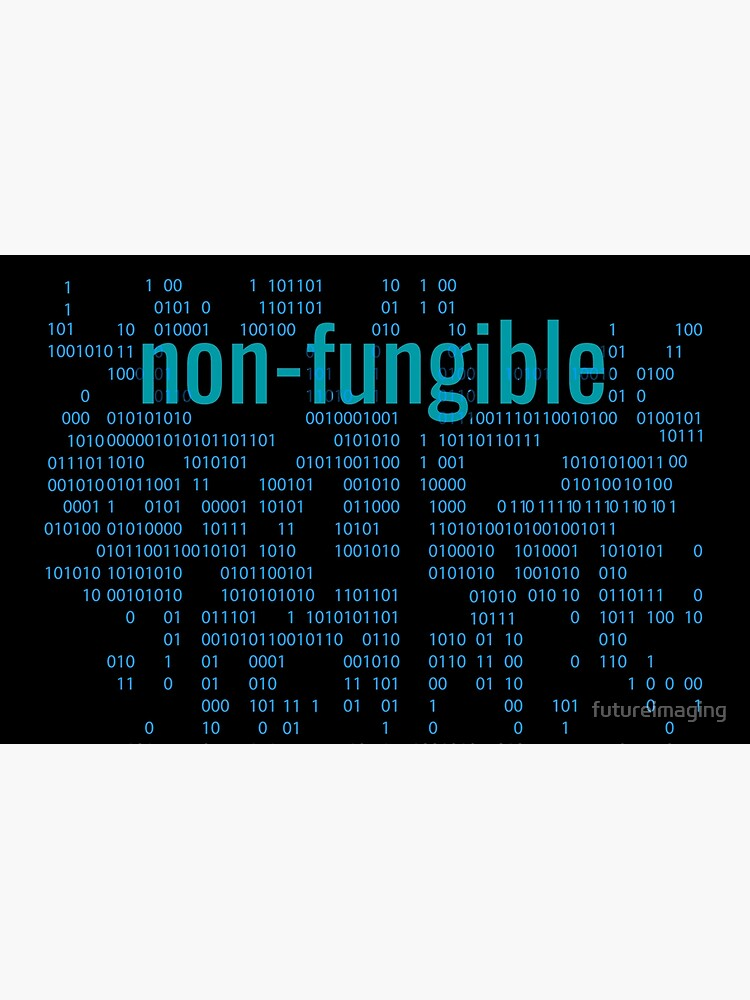 Non-Fungible crypto Blue by futureimaging