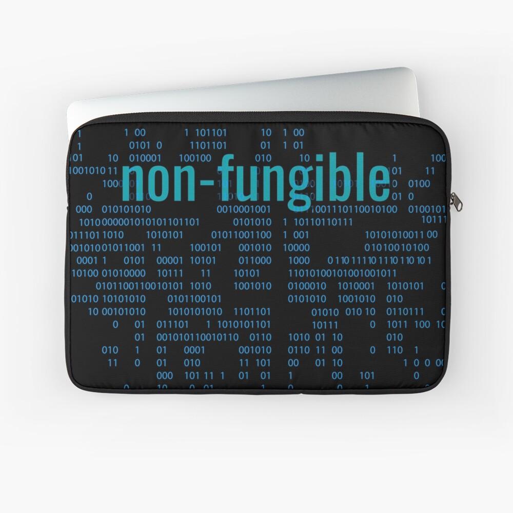 Non-Fungible crypto Blue Laptop Sleeve