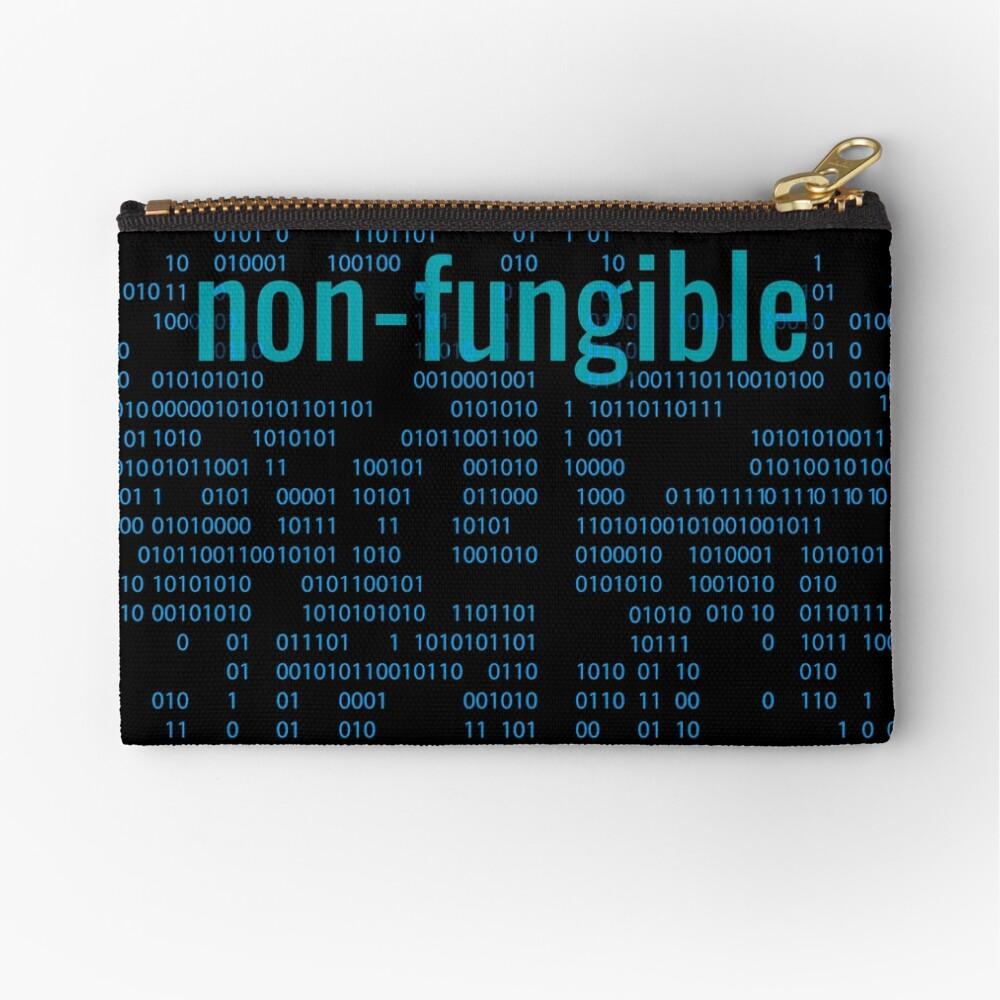 Non-Fungible crypto Blue Zipper Pouch
